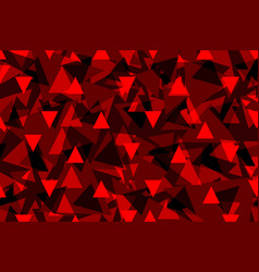 triangle background - red vector image