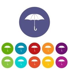 Umbrella set icons vector image