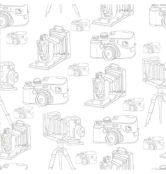 Vintage Seamless Background with Retro Camera vector image