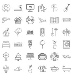 washing icons set outline style vector image