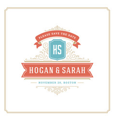 wedding save date invitation card design vector image