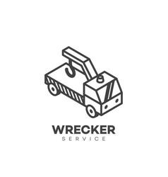 Wrecker service logo vector