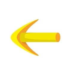 Yellow arrow cartoon icon vector