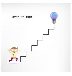 Creative light bulb idea and businessman vector image
