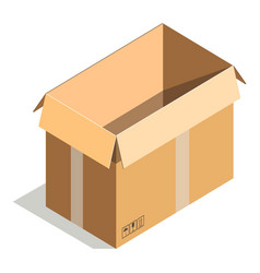 delivery shipping package square empty container vector image vector image