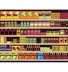 Grocery store background vector image vector image