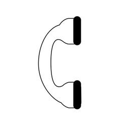 Phone handset icon imag vector