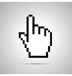 Pixelated computer cursor in hand shape simple vector image