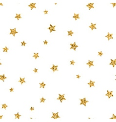 Stars seamless pattern gold vector image vector image