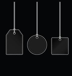 tag blank design on black background vector image vector image