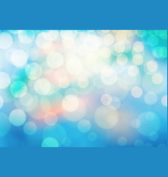 abstract soft colors bokeh on blue background vector image vector image