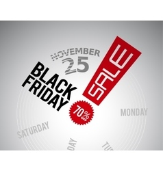 Black friday text on price tag vector