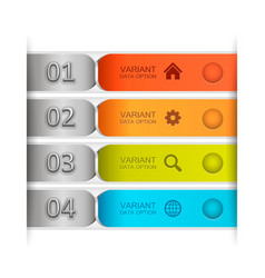 color banner tape vector image vector image