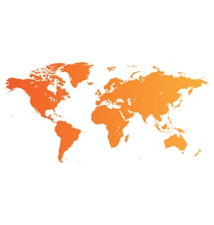 Orange World map vector image