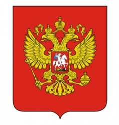 Russian emblem vector image