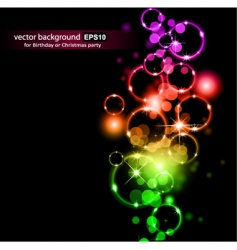 space circles vector image