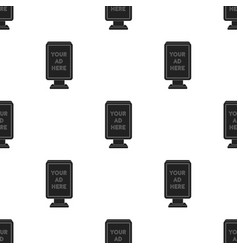 banner frame icon in black style isolated on white vector image