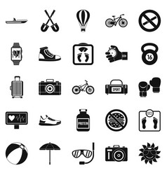 Nature study icons set simple style vector