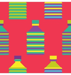 Seamless Bottle pattern colourful vector image