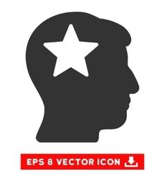 Star Head Eps Icon vector image