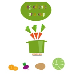 Vegetables capd vector image