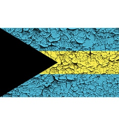 Flag of Bahamas with old texture vector image vector image