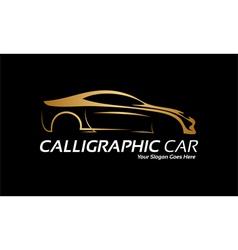 Golden car logo vector image vector image
