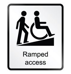 Ramped Access Information Sign vector image vector image