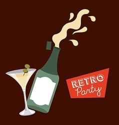 retro party vector image
