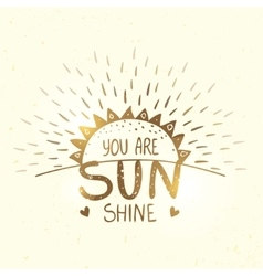 sunshine gold silhouette vector image