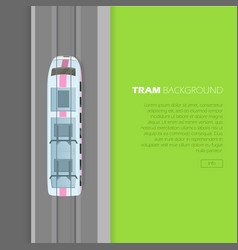 tram background conceptual flat web banner vector image vector image