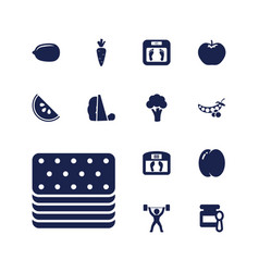 13 diet icons vector