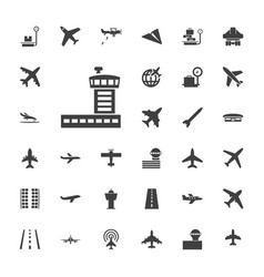 33 airplane icons vector