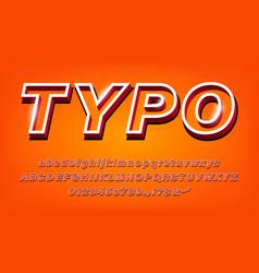 3d modern bold alphabet set vector image