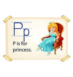 A letter P for princess vector image