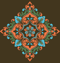 abstract arabesque elements in vector image