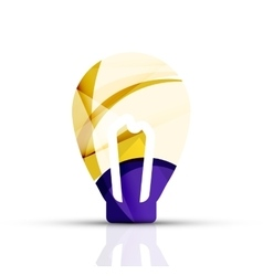 Abstract light bulb logo design made of color vector image