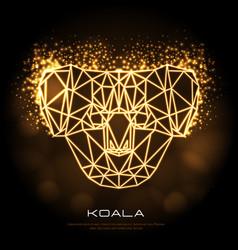 Abstract polygonal tirangle animal koala neon vector
