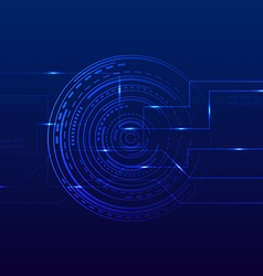 Abstract technology futuristic digital background vector image
