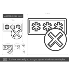Access denied line icon vector image