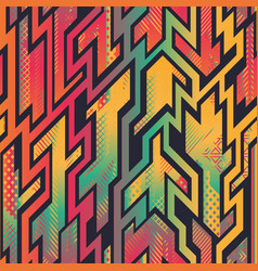 african style geometric seamless pattern vector image