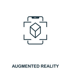 augmented reality icon mobile app printing web vector image