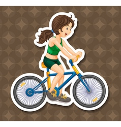 Biking vector image