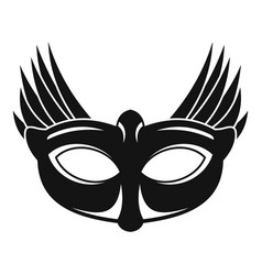 bird carnival mask icon simple style vector image