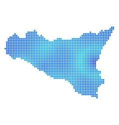 Blue dot sicilia map vector