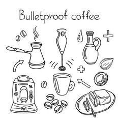 Bulletproof coffee vector