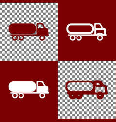 Car transports sign bordo and white icons vector