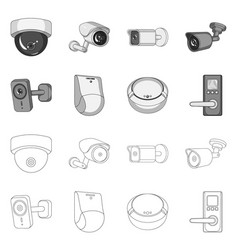 Cctv and camera logo vector