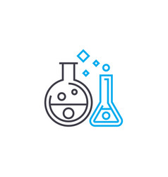 chemical experiments thin line stroke icon vector image