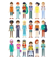 Children Figure Characters Set vector